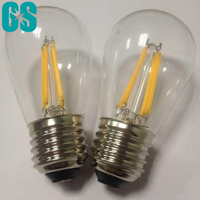 Chine S14 type approbation de la CE d'intense luminosité de l'ampoule 2W 4W E26 E27 B22 du filament LED distributeur